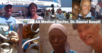 Airline Ambassador Medical Doctor, Dr. Susott at Haiti